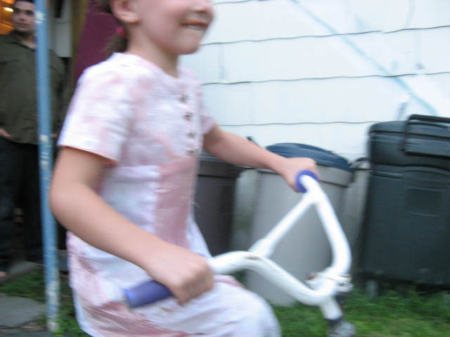 biking in a dress