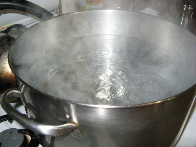 boiling water, shocking!