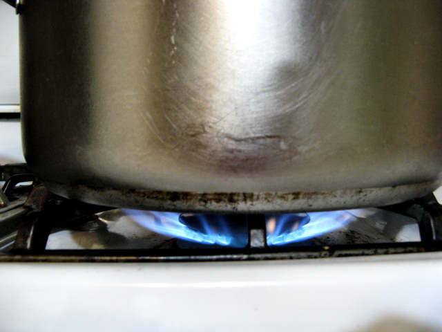 Lighting a fire under the pot