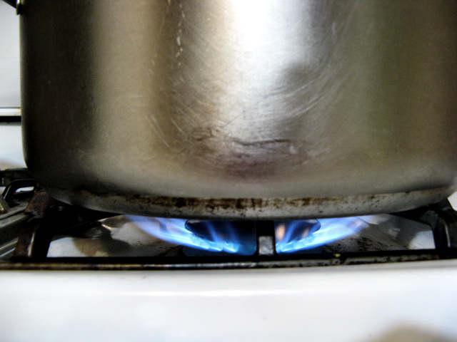 Lighting a fire under the pot