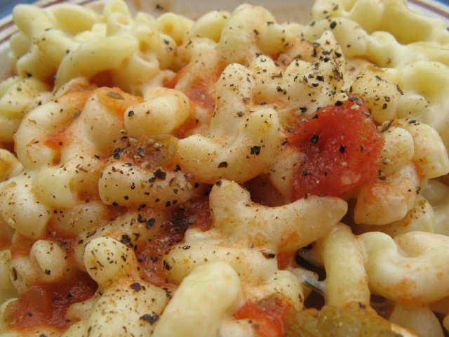 mac and cheese w/ tomatoes