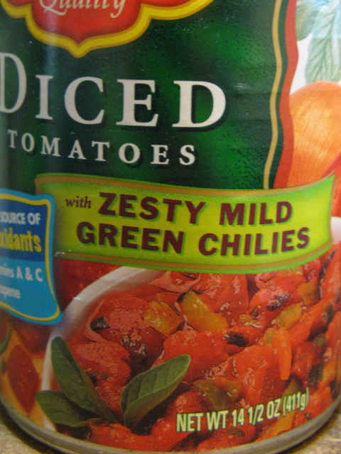 Closer look at the can