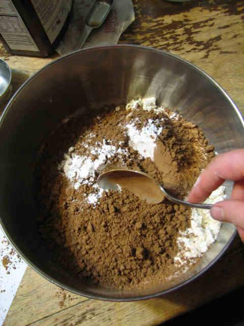 here we're mixing the dry ingredients